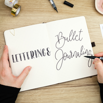 Online-Live-Workshop #journaleinfachONLINE Journal Lettering Bullet Journaling